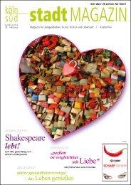 stadtMAGAZIN köln-süd | Ausgabe Februar/März 2014