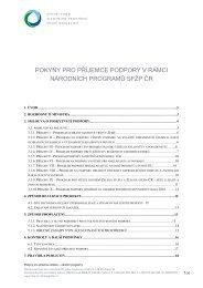 Pokyny pro příjemce podpory - Státní fond životního prostředí