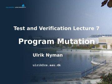 Program Mutation