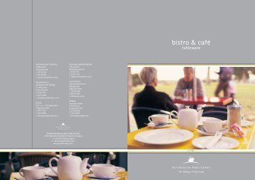 Bistro - Arafura Catering Equipment