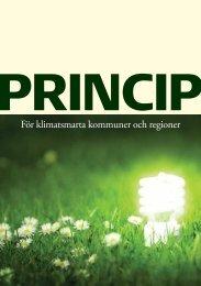 För klimatsmarta kommuner och regioner - Energi PRINCIPS