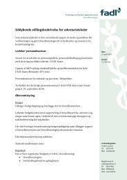 Stillingsbeskrivelse sekretariatsleder 2010 - fadl.dk