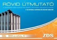 ZDS-szivattyúk - V.31 Kft