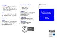 WB zum/zur Qualitätsmanager/in für alle Berufsgruppen im ...
