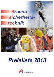 Preisliste 2013