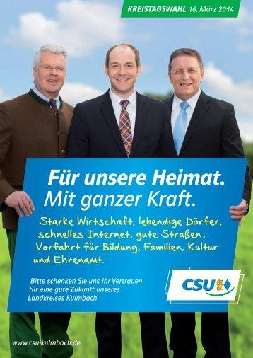 CSU-Kreistagskandidaten Kulmbach