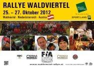 27. Oktober 2012 - Rallye Waldviertel