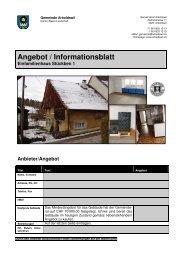 Angebots - Gemeinde Arboldswil