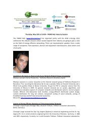 Thursday, May 10th at 14:00 – TREND NoE Industry Session The ...
