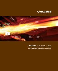 Access Virus PowerCore Manual English - TC Electronic