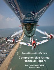 2009 Comprehensive Annual Financial Report - Town of Ocean City
