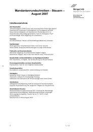 Rundschreiben August 2007 - Wengert Gruppe