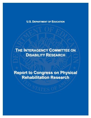 Interagency Committee on Disability Research - American Academy ...