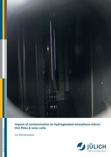Atmospheric contamination of hydrogenated amorphous ... - JuSER