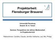 Projektarbeit: Flensburger Brauerei - Dr. Hans Toman