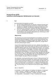 Postulat Humm (EVP) betreffend unbefriedigender ... - Muri bei Bern