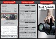 Rent-Preisliste - Foto Leistenschneider GmbH & Co KG