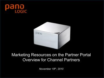 Purpose Built for Desktop Virtualization - Pano Logic