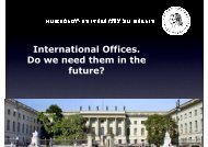 International Offices. Do we need them in the future? - UNICA