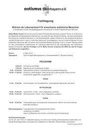 autismus Oberbayern eV Fachtagung