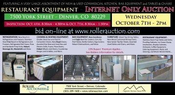 restaurant equipment - Roller Auctioneers