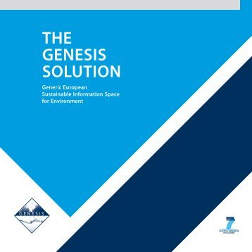 THE GENESIS SOLUTION - Solutions for Water platform - World ...