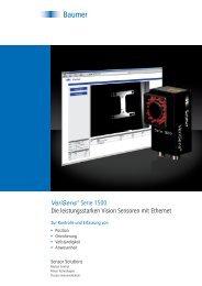 VeriSens® Serie 1500 – Die leistungsstarken Vision Sensoren mit ...