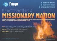 Forge Event Programme