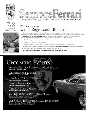 Sept-Oct 05 Registration.qxd - Ferrari Club of America - Southwest ...