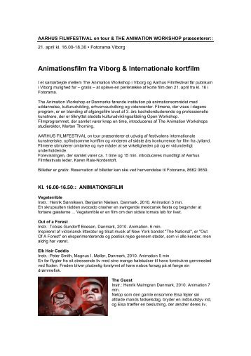 Animationsfilm fra Viborg & Internationale kortfilm - Aarhus Filmfestival