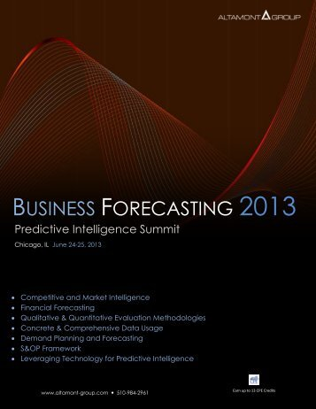 BUSINESS FORECASTING 2013 - Altamont Group