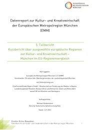 Kurzbericht über ausgewählte europäischer Regionen zur Kultur