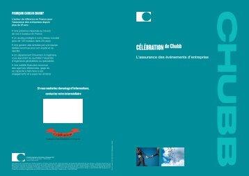 Dépliant Célébration def.indd - Chubb Group of Insurance Companies