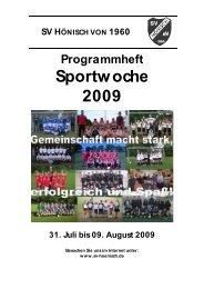 Programmheft zur Sportwoche 2009 - SV Hönisch