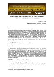 intervenção terapêutica à idosos institucionalizados - UniFil