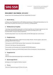 REGLEMENT MULTIMEDIA 2012-2015 - SRG SSR