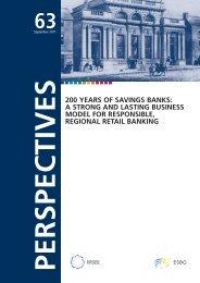 200 Years of Savings banks - ESBG