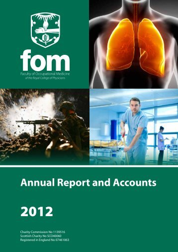 FOM Annual Report 2012 - Faculty of Occupational Medicine