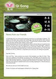 News from our friends - Qi Gong Oberkassel