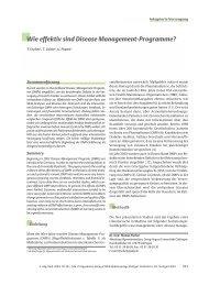 Wie effektiv sind Disease Management-Programme? - Zeitschrift für ...