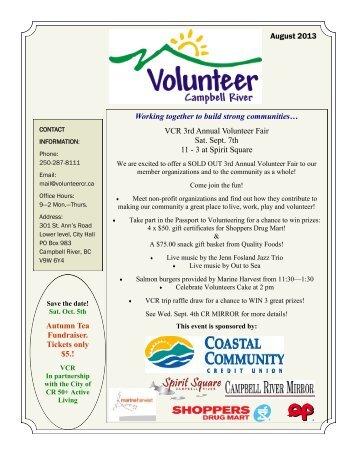 August 2013 - Volunteer Campbell River