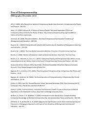 Eras Of Entrepreneurship Bibliography - Business Innovation Factory