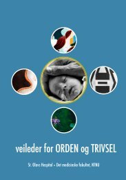 veileder for ORDEN og TRIVSEL - St. Olavs Hospital