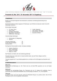 Protokoll AL-Rat 2007 - Pfadi Kantonalverband St. Gallen - Appenzell