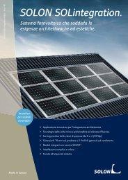 SOLON SOLintegration. - Infobuild energia