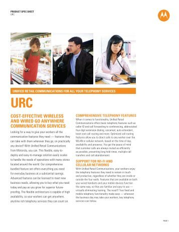 Unified Retail Communications Spec Sheet - Motorola Solutions