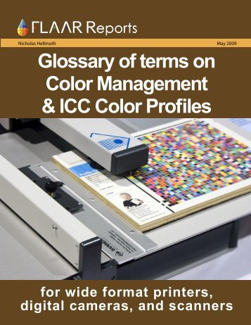 Glossary of terms on Color Management & ICC Color Profiles