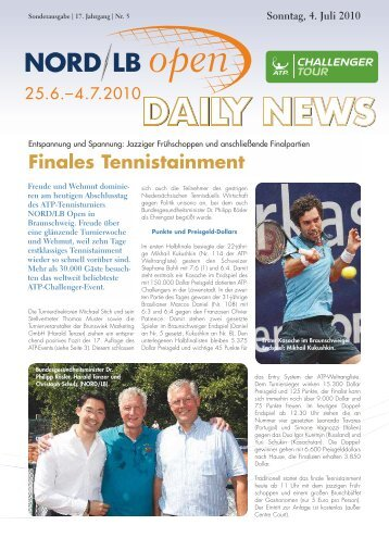 Finales Tennistainment - Sparkassen Open