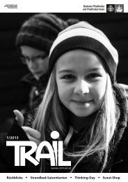 Rückblicke Strandbad-Saisonkarten Thinking-Day Scout-Shop