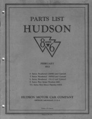 1933 Hudson Six and Eight Parts List - Hudson-Essex-Terraplane ...